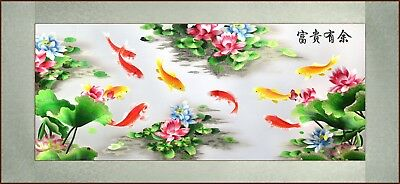 Grace Art®, Large Asian Silk Embroidery Art Wall Hanging