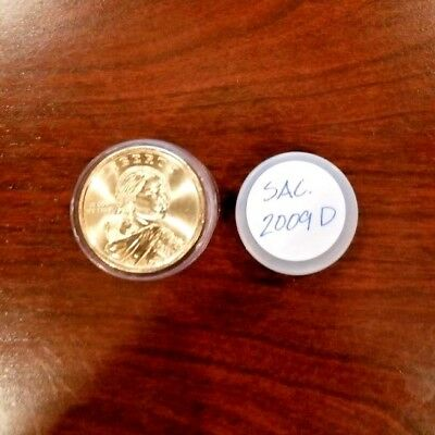 2009-D - Roll of 25 Sacagawea Native American $1 Dollar Coins in Tube