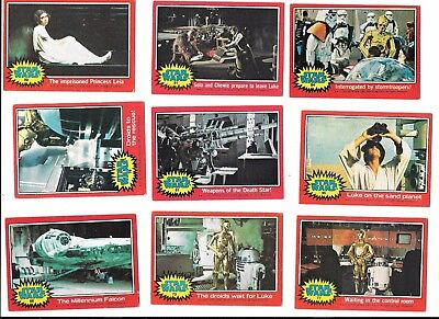 STAR WARS Series 2 II ~ red border 1977 ~ 20 trading cards TOPPS