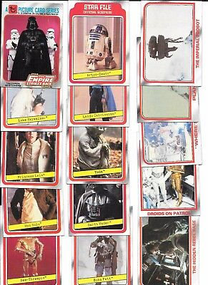 STAR WARS Empire Strikes Back Series 1 I 124 cards 9 stickers Wax Wrapper 1980