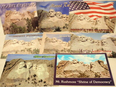 Mount Mt. Rushmore Souvenir Postcard Lot of 8