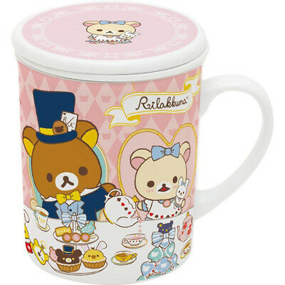 Rilakkuma Mug Cup Strainer Alice in Wonderland Pink San-X Japan