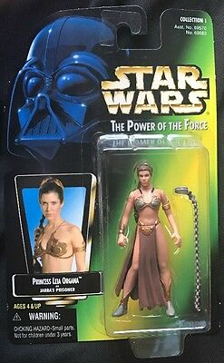 Star Wars The Power Of The Force: PRINCESS LEIA ORGANA as JABBA'S PRISONER 1997