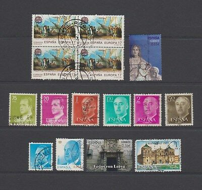 Spain - 15 used stamps - ( Lot 161 )