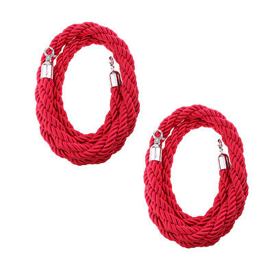6.6ft 10ft Twisted Barrier Rope Queue Twisted VIP RED