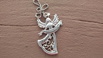 """""""KATELYN"""" Never drive faster than your Guardian Angel can fly charm-FREE SHIP!"""