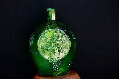 Clevenger Brothers Green Eagle/Early American Society Vintage Bottle Flask