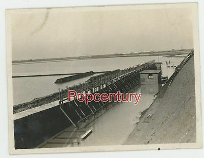 China Photograph 1927 Tientsin USMC 5th Engineers Dam Construction Hsin Ho
