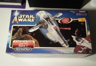 Star Wars SLAVE 1 Jango Boba Fett Spaceship Ship vehicle AOTC Hasbro 2002 New