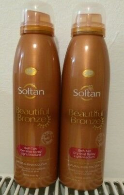 2 X Soltan Beautiful Bronze Self-Tan Mist 150ml