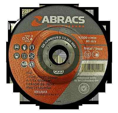 115mm x 0.75mm Abracs Phoenix Ultra Thin Inox Cutting Discs 4 1/2 inch x 10