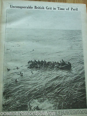 Antique Print 1917 The War Illustrated Unconquerable British Grit Time Of Peril