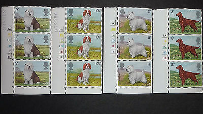 022] - Gb Stamps - Dogs - Triple Corner Set With Side Controls - Mint N/h