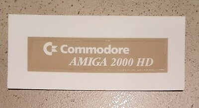C= Commodore AMIGA 2000 HD case badge OEM