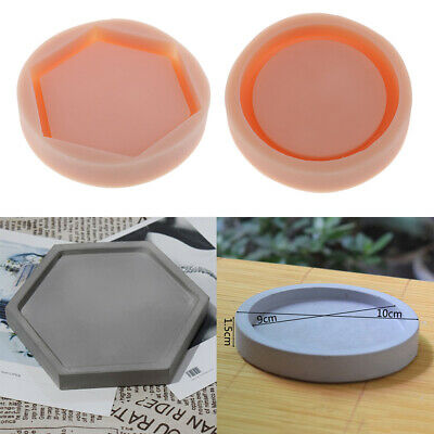 Silicone Home Flower Pot Tray Mold Ceramic Clay Casting Concrete Mould Tool