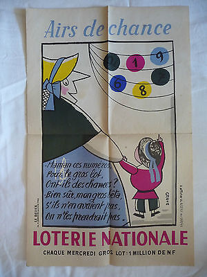 Affiche Loterie Nationale Grove 1961