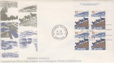 Canada #595 15¢ Landscape Definitive Ur Plate Block First Day Cover