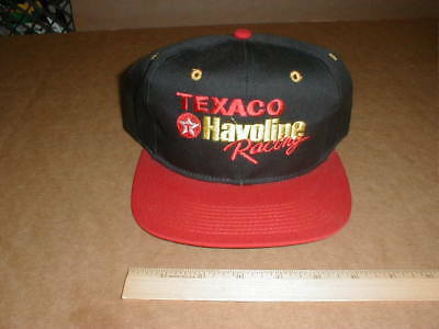 Vtg new Texaco Havoline Motor Oil Gasolina Racing Snapback USA Hat Black/Red