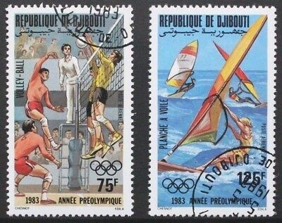 DJIBOUTI 1983 Olympic Games Los Angeles. Set of 2. Fine USED/CTO. SG873/874.