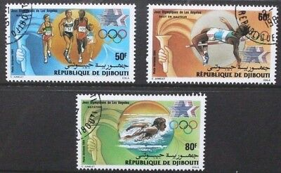 DJIBOUTI 1984 Olympic Games Los Angeles. Set of 3. Fine USED/CTO. SG921/923.