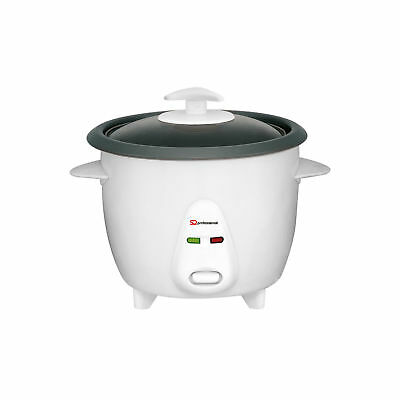 1.0L Automatic Nonstick Electric Rice Cooker Glass Lid Pot Warmer Warm Cook 400W
