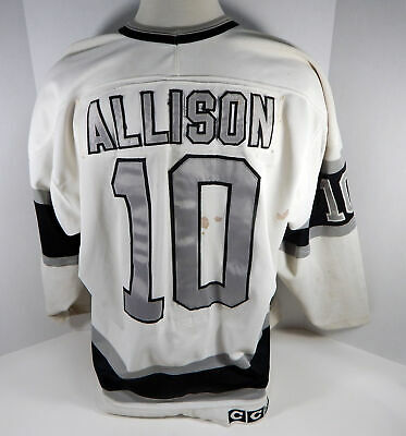 1989-90 Los Angeles Kings  Mike Allison #10 Game Used White Jersey