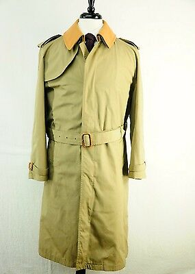 Brooks Brothers Men's Khaki Tan Belted Trench with Removable Wool Liner 38R