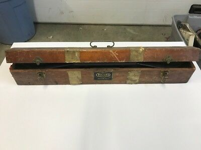 """THE BULLARD COMPANY ANTIQUE 24"""" Precision LEVEL WITH CASE Vintage  - NICE"""