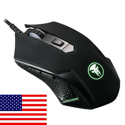 USB Wired Mice with DPI, Ergonomic for Computer Laptop PC Gaming Mouse US SHIP
