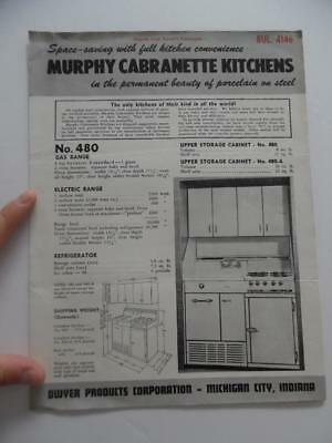 Murphy Cabranette Porcelain on Steel Kitchen Unit Architectural Catalog Vintage