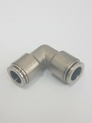 Metal Push Fit Elbows,.Metric Push in fittings Nickel Plated Brass, Equal Size