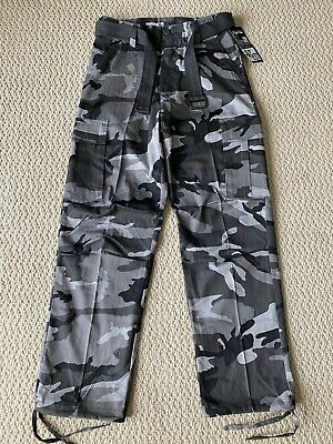 cffffb23d3 NWT Men's Regal Wear Gray Camouflage Camo Cargo Pocket Pants ALL  SIZES/LENGTHS