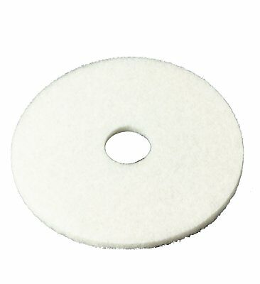 "3M 16"" Polishing Pads 4100 Floor Pad, Machine Use Case of 5 White"