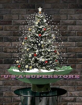 Holiday Snowing Decorated Led Pre-Lit Musical Artificial Lighted Christmas Tree