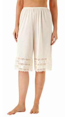 "Velrose Nylon 26"" Culottes With 3 Layer Lace (2402)"