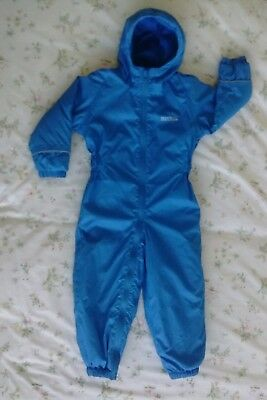 83f79a3bc BOYS GIRLS REGATTA ALL IN ONE FLUFFY FLEECE SUIT BLUE OR PINK Rhugs ...
