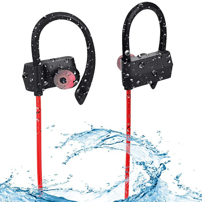 Waterpoof Bluetooth in Ear Sweatproof Headphones Wireless Earphones HD Stereo US