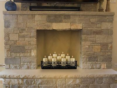 Pleasant Hearth Fireplace Black Decorative Candelabra Holds Six Candles 50904