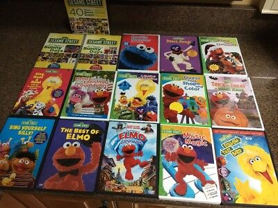 sesame street dvd lot of 15 trick or treat elmo saves christmas40 - Sesame Street Elmo Saves Christmas