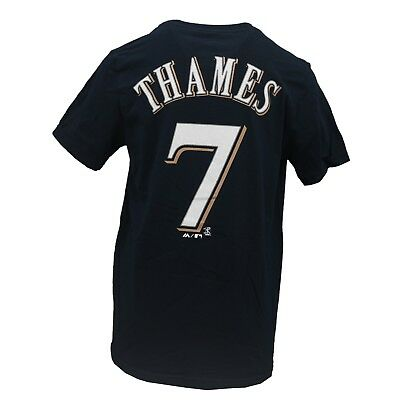 Milwaukee Brewers MLB Majestic Kids Youth Size Eric Thames T-Shirt New with Tags