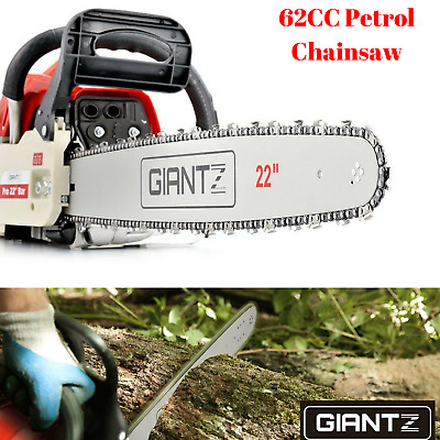 62CC E-Start Petrol Chainsaw Commercial Garden Tool Pruning Tree Trunk Chain Saw