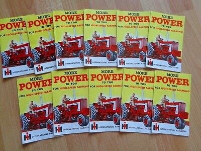 11 Vintage IH 706 806 tractor More Power brochures fold out graphic VG condition