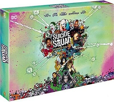Blu-ray - Suicide Squad [Blu-ray 3D + 2D + 2D Extended Edition + DVD + Copie dig