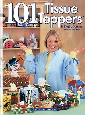 101 Tissue Toppers ~ Holiday Everyday Tissue Covers plastic canvas patterns NEW