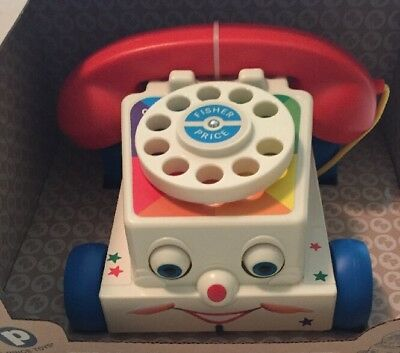 Fisher Price Classic Chatter Telephone Repro Toy Phone Nostalgia 12 Mos+ NIB