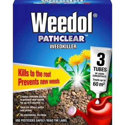 Pathclear Weedkiller, 3 Tubes