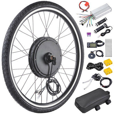 "1000W Motor 26"" Front Wheel Electric Bicycle Kit Bike PAS Hub LCD Meter Display"