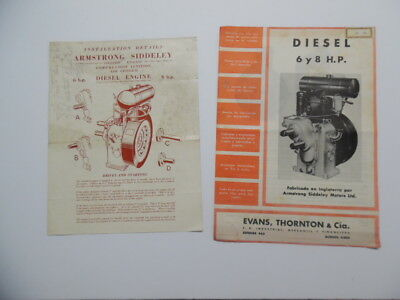 c.1950 Armstrong Siddeley Compression Ignition Air Cooled Engine Brochure Lot UK