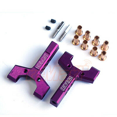 OXYGEN Aluminum Universal Fit Short Slip Y-Arm 2pcs Purple RC Car Drift #00502P1