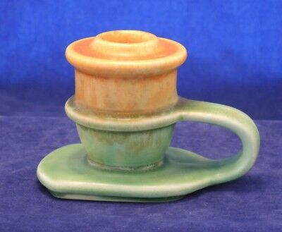 Art Deco Beswick Candle Holder Stick Green & Brown #4
